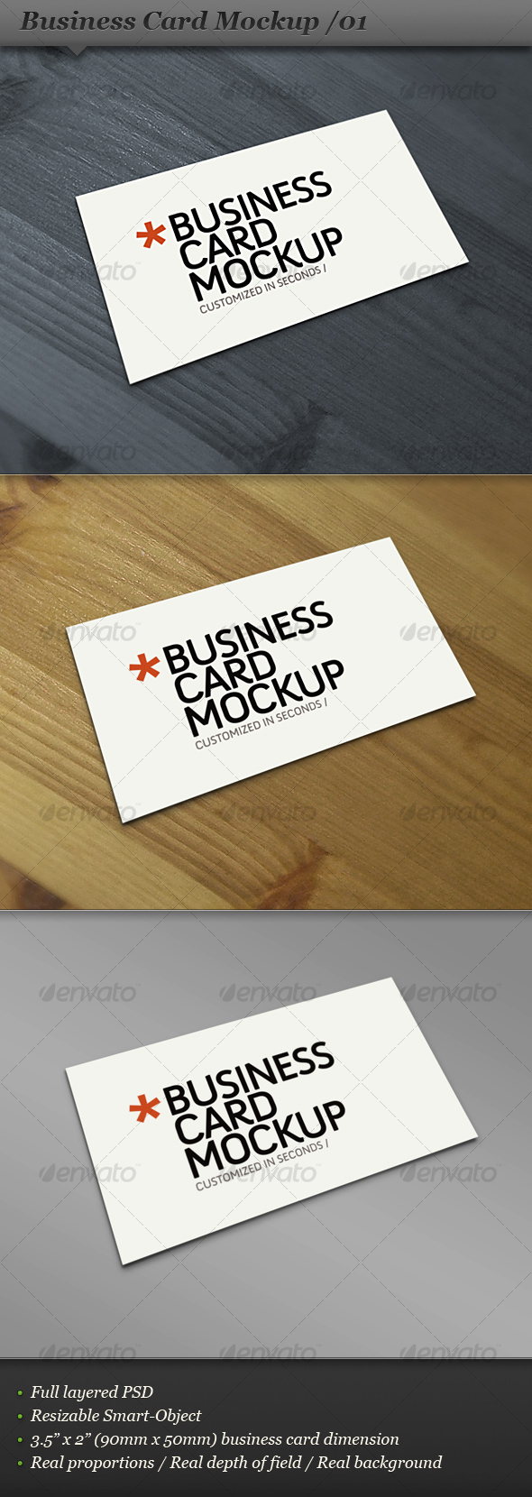 Business card mockup display - Smart template 01 - Business Cards Print