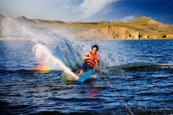 Waterskiing - Stock Photo - Images