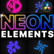 Neon Elements Pack | DaVinci Resolve - VideoHive Item for Sale