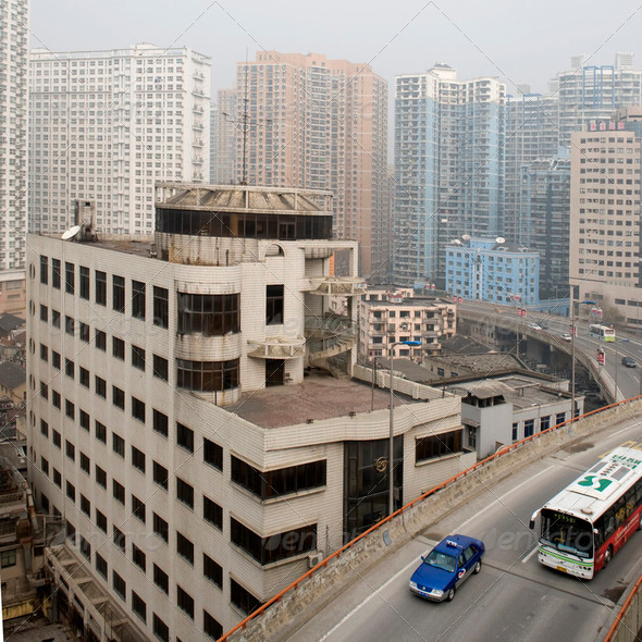 Roads of Shanghai - Stock Photo - Images