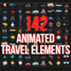 Icon Animated Travel Adventure Elements - VideoHive Item for Sale
