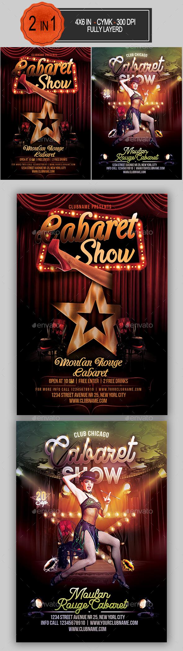 Cabaret Flyer Bundle