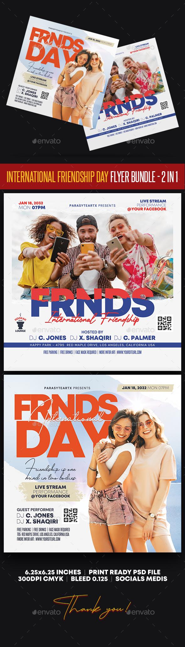 International Friendship Day Flyer Bundle