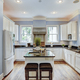 Large American style kitchen interior with granite countertops - PhotoDune Item for Sale