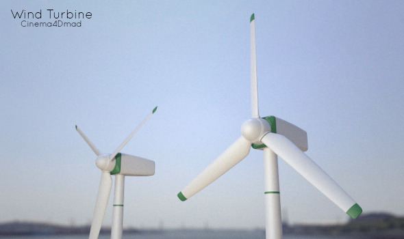 Wind Turbine - 3DOcean Item for Sale