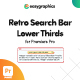 Retro Search Bar Lower Thirds for Premiere Pro - VideoHive Item for Sale
