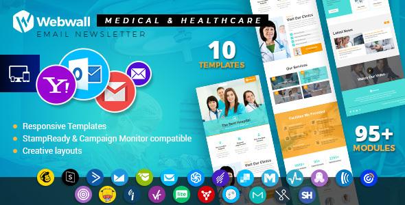 Webwall - Medical & Healthcare Responsive Email Newsletter - V15