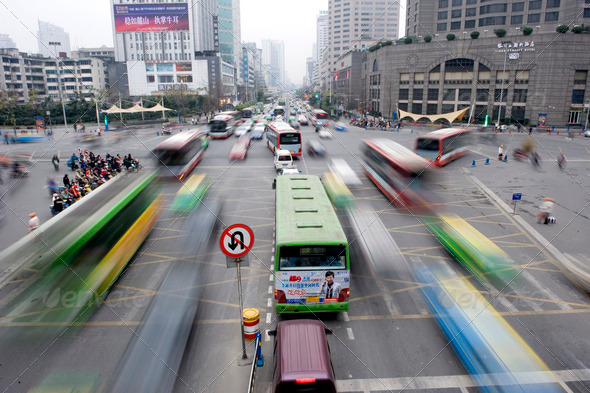 Traffic in Shanghai - Stock Photo - Images