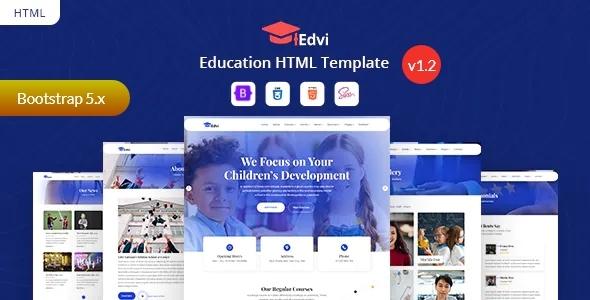 Extraordinary Education Bootstrap 5 Template - Edvi