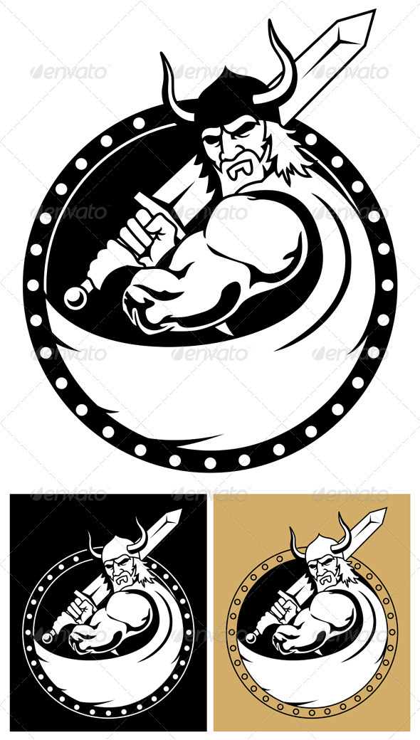 Viking with Sword - Characters Vectors