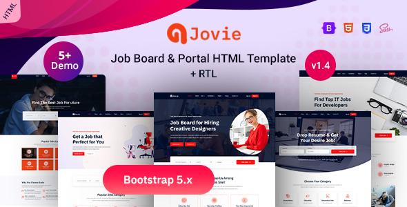 Marvelous Job Board & Portal Bootstrap 5 Template - Jovie