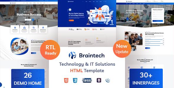 Braintech - Technology & IT Solutions HTML Template