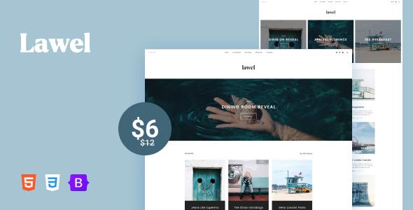 Lawel - Minimal & Modern Blog HTML Template