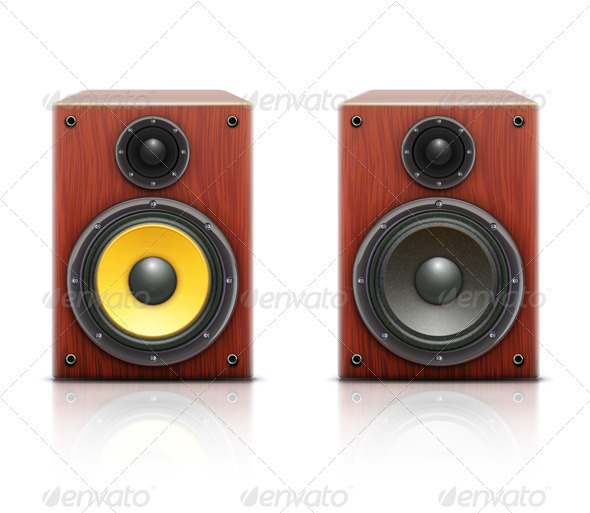 Sound loud hi-fi audio system - Objects Vectors
