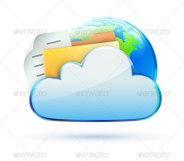 Cloud based data sharing concept  - Technology Conceptual