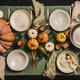 Autumn seasonal table setting for family dinner or friends gathering - PhotoDune Item for Sale
