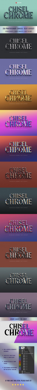 Chisel Chrome Text Effect