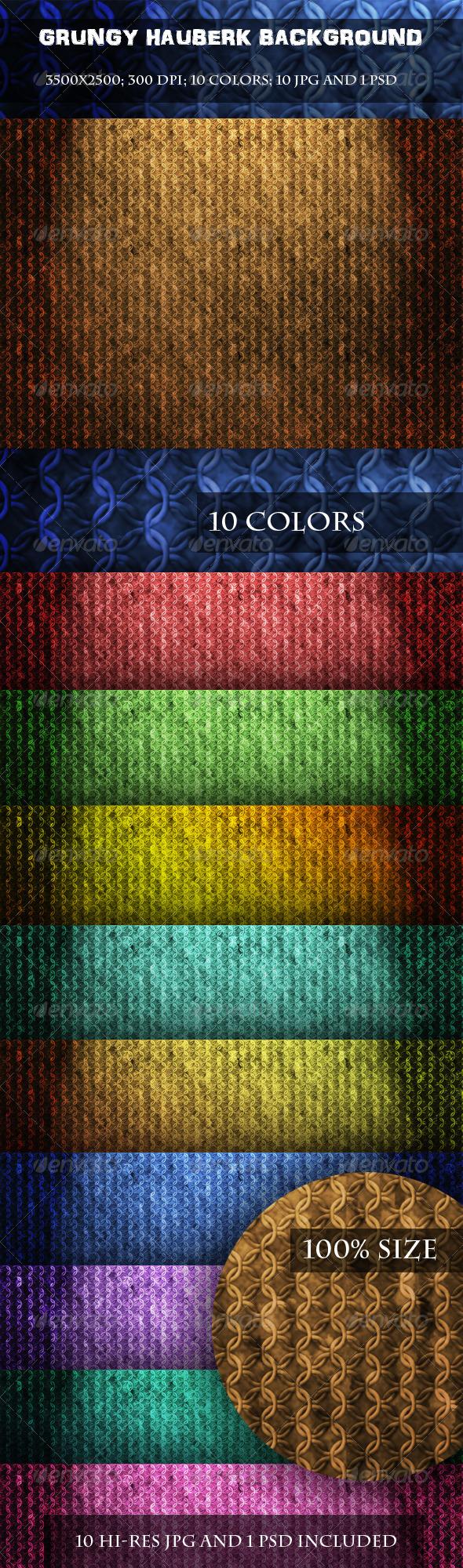 Grungy Hauberk Background - Patterns Backgrounds