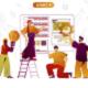 Flat Line Concept Web Illustration