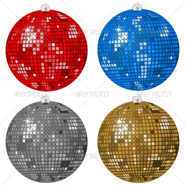 Disco Christmas balls - Christmas Seasons/Holidays
