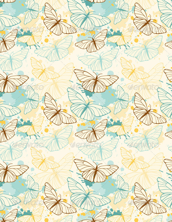 Butterfly Seamless Pattern - Patterns Decorative