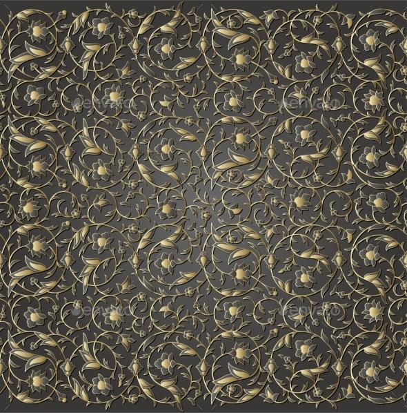 Arabesque Luxury Seamless Floral Pattern