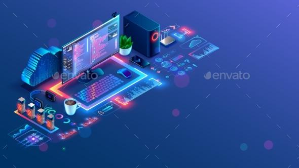 Software Web Development Programming Concept