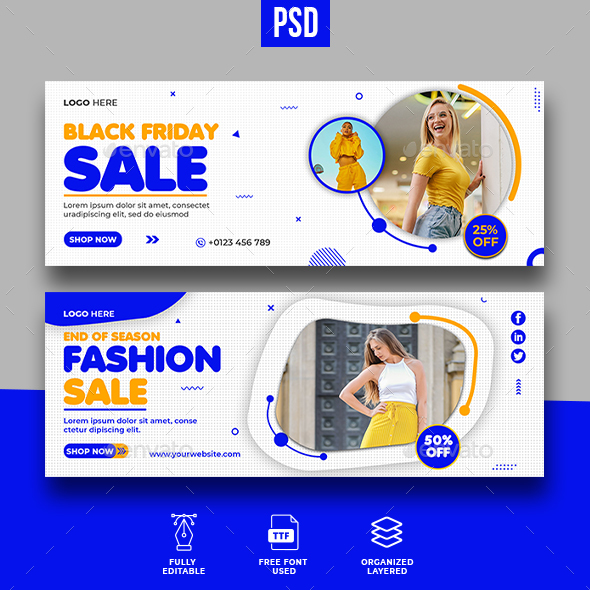 Fashion Sale Facebook Cover Template