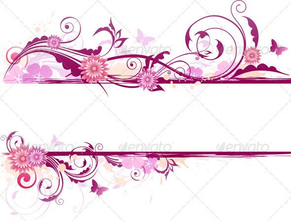 Floral Banner - Backgrounds Decorative