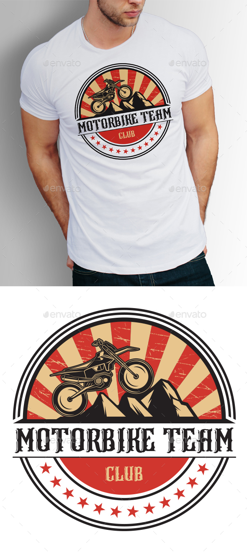Motorbike T-shirt Design