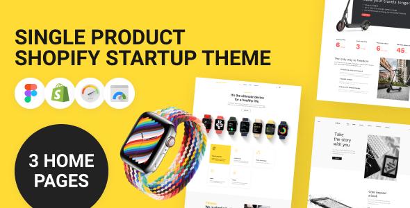 Single Product Shopify Startup Theme