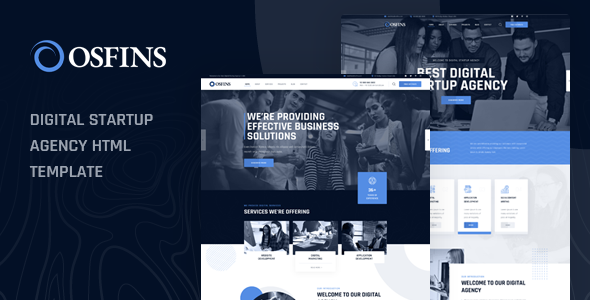 Wondrous Osfins - Digital Startup Agency HTML Template