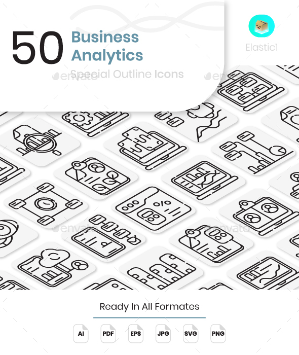 Business Analytics Outline Icons