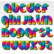 Retro Rainbow Font - GraphicRiver Item for Sale