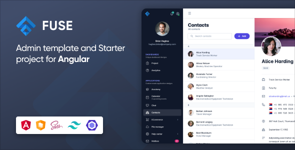 Exceptional Fuse - Angular 12+ Admin Template