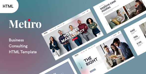 Metiro - Business Consulting Bootstrap 5 Template   RTL Supported