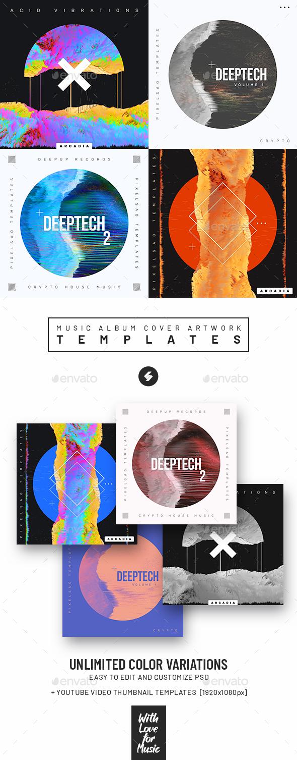 Music Album Cover Artwork Templates Bundle 68