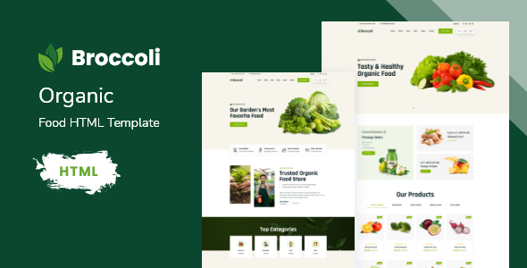 Wondrous Broccoli - Organic Food HTML Template