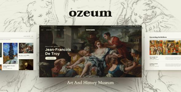 Fabulous Ozeum | Modern Art Gallery and Creative Online Museum WordPress Theme +RTL