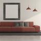 Minimalist living room with modern sofa - PhotoDune Item for Sale