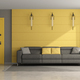 Modern yellow and gray living room - PhotoDune Item for Sale