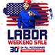 Labor Day Weekend Sale Banners Ad