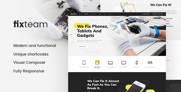 FixTeam | Electronics & Mobile Devices Repair WordPress Theme