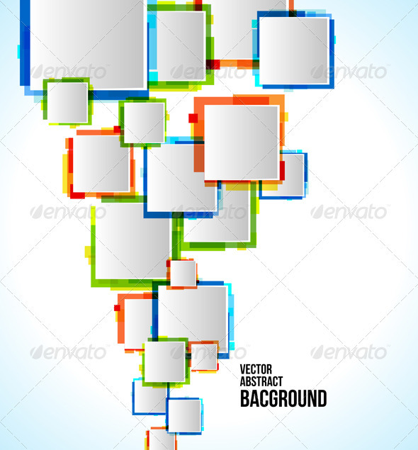 Vector Abstract Colorful Background - Backgrounds Decorative