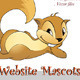 Cute Squirrel Website Mascot - GraphicRiver Item for Sale