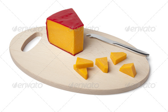 Piece of Cheddar cheese - Stock Photo - Images