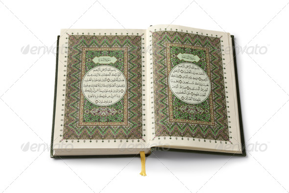 Open Koran book - Stock Photo - Images
