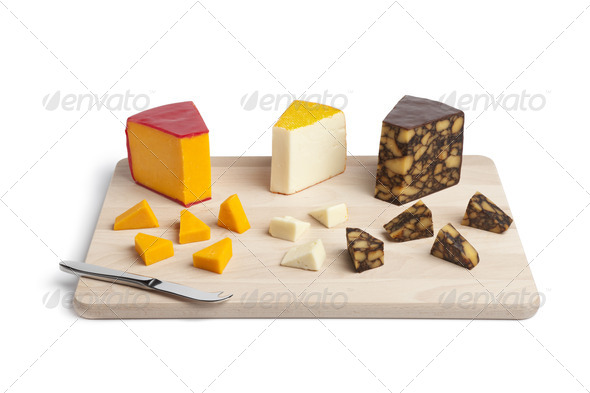 Cheese platter - Stock Photo - Images