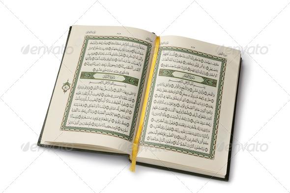 Open Koran book - Stock Photo - Images