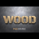 WOOD Text Effect Style